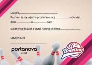 pozivnica na rođendan GBowling pozivnice za rodjendan « GBowling Osijek pozivnica na rođendan